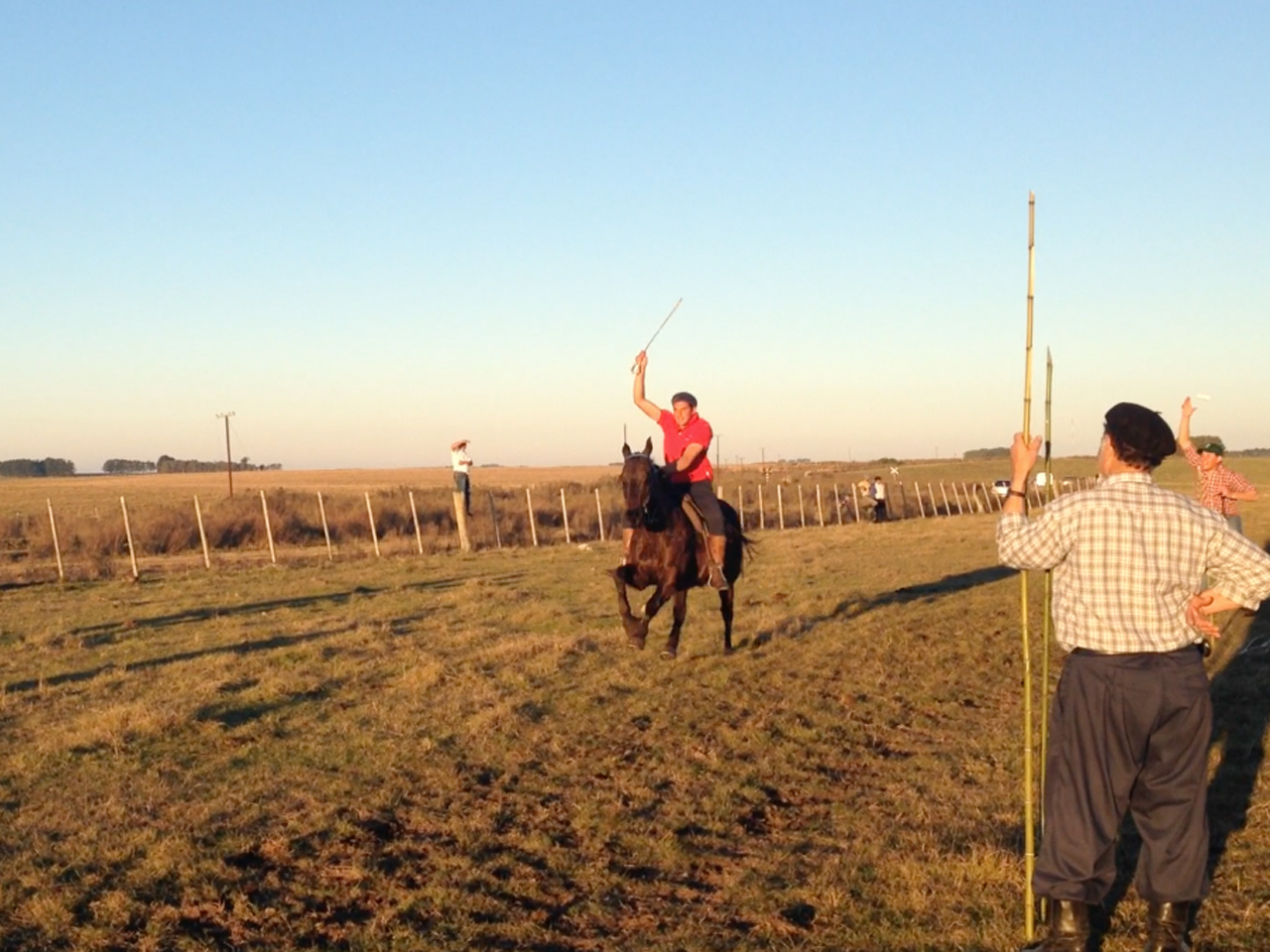 Jockey Sergio Pellejero is first past the post in Illescas.
