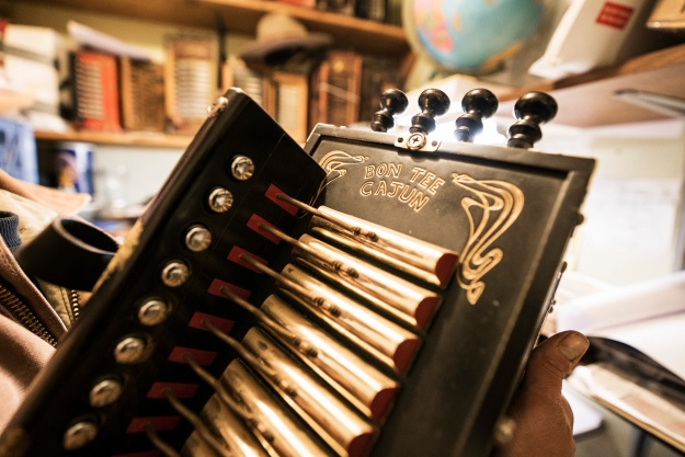 Cajun accordions. Photos by David Scott Holloway.