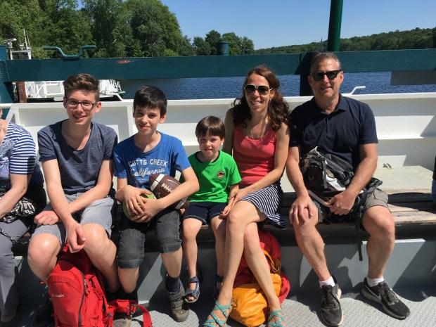 Joshua Hammer and his family. Photo courtesy of author.