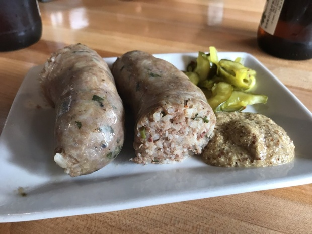 Boudin from Donald Link's Cochon Butcher in New Orleans, Louisiana. Photo by Tina M. via Yelp.