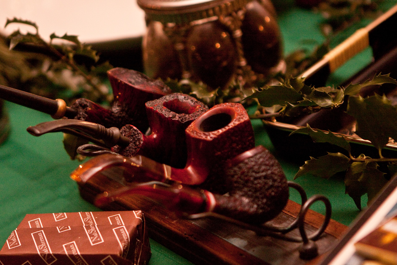 Tobacco pipes.