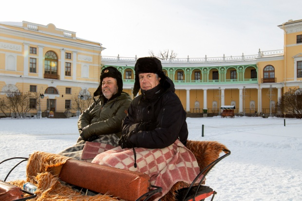 Gotta and Bourdain in Russia. Photos by David S. Holloway.