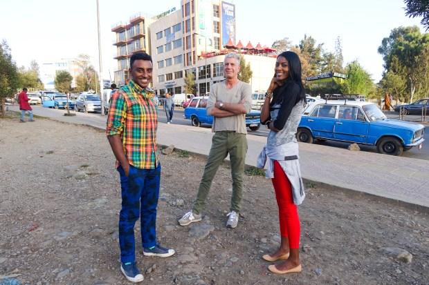 Marcus, Tony, and Maya in Ethiopia.