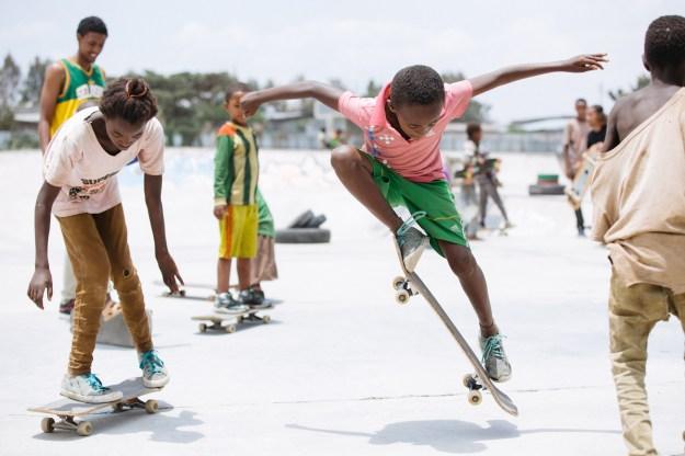 Skaters in Hawassa.
