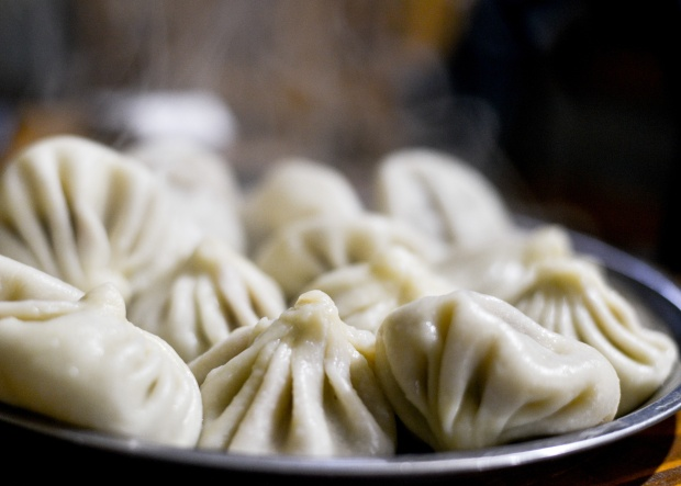 You must try khinkali. Photo by Tamar Mirianashvili/Getty Images.