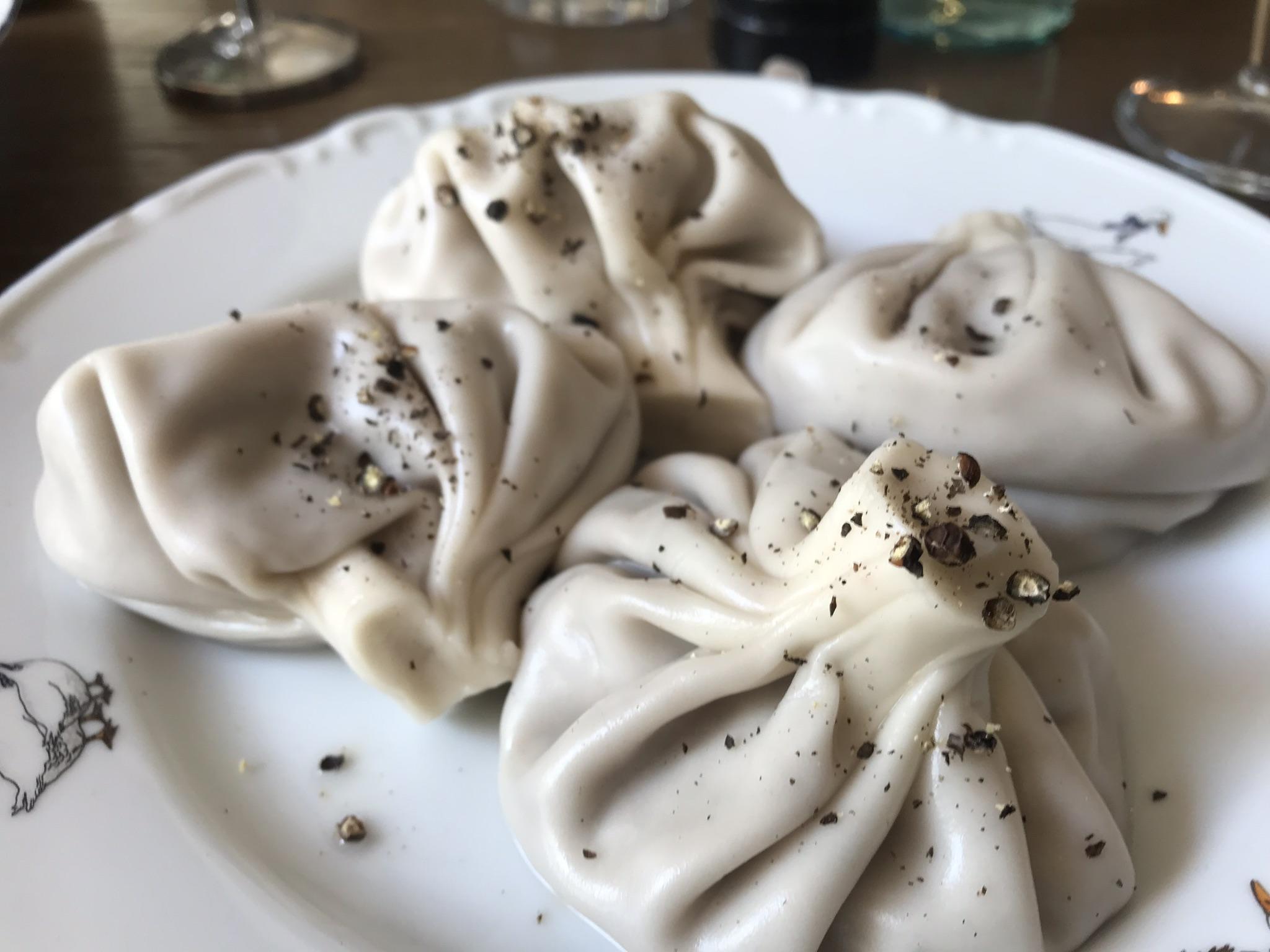 Khinkali (soup dumplings). Photo by Alexa van Sickle.