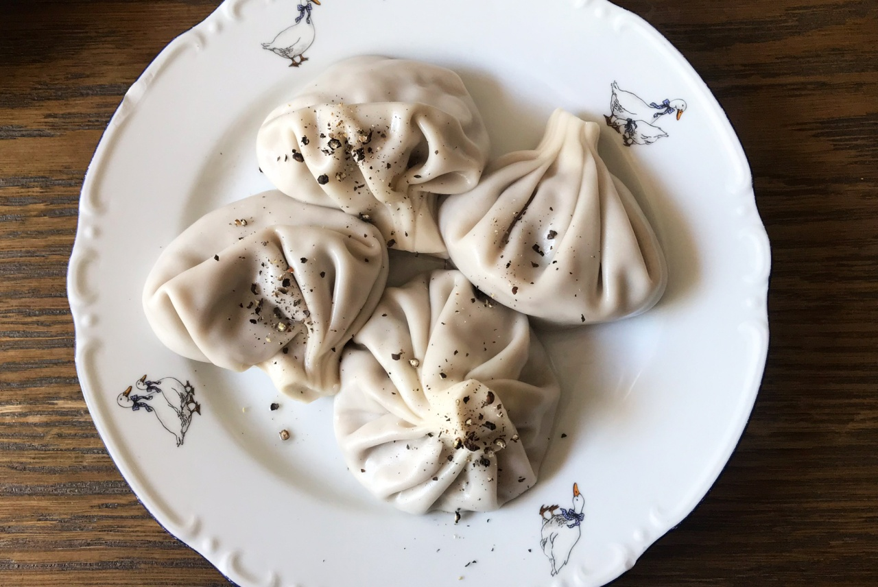 Lamb khinkali seasoned with black pepper. Photo by Alexa van Sickle.