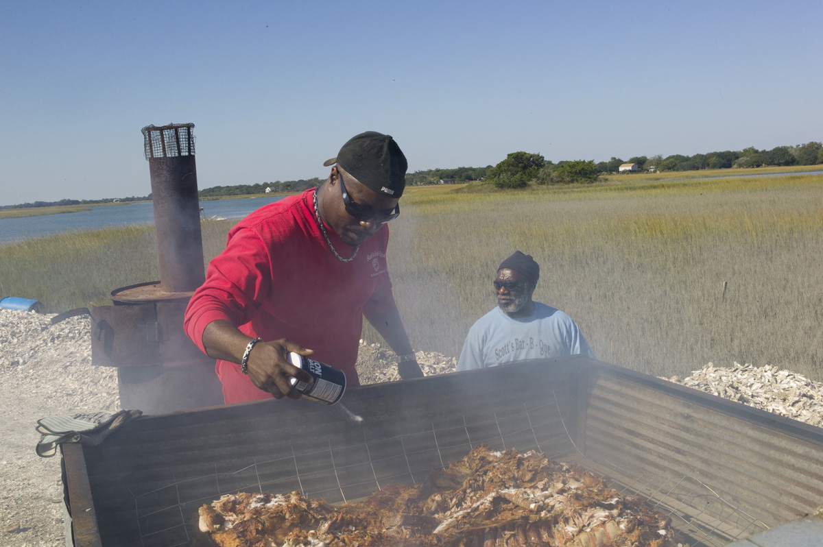 Rodney Scott BBQ, the star South Carolinian addition to Saturday's public event.