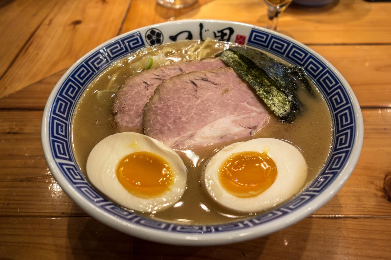 A bowl of ramen from popular Tokyo chain, Afuri.