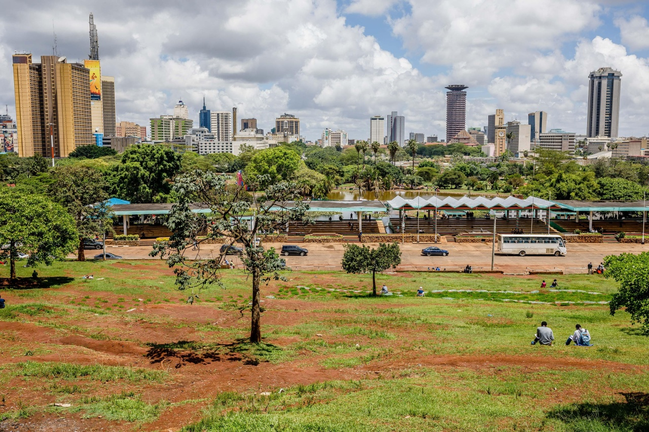 The Nairobi skyline, as seen from Uhuru Park viewpoint.