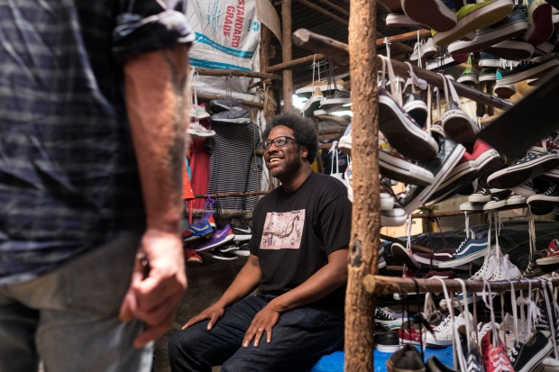 W. Kamau Bell while shooting in Kenya.