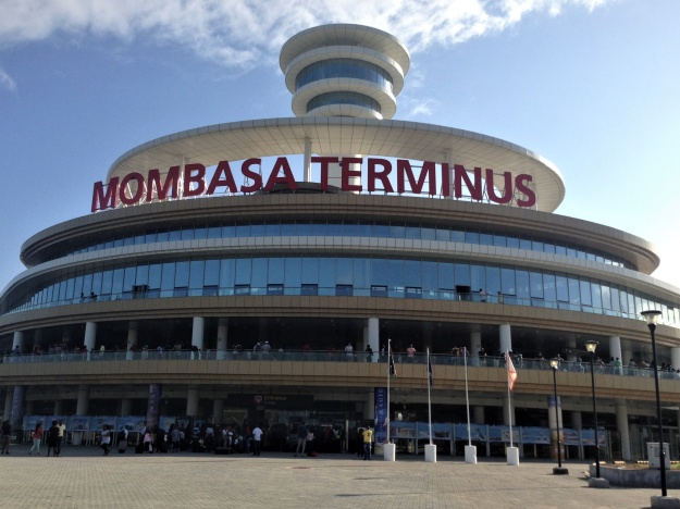 1. The Mombasa Terminus station in Miritini. 2: Passengers board the SGR at the Mombasa Terminus station.