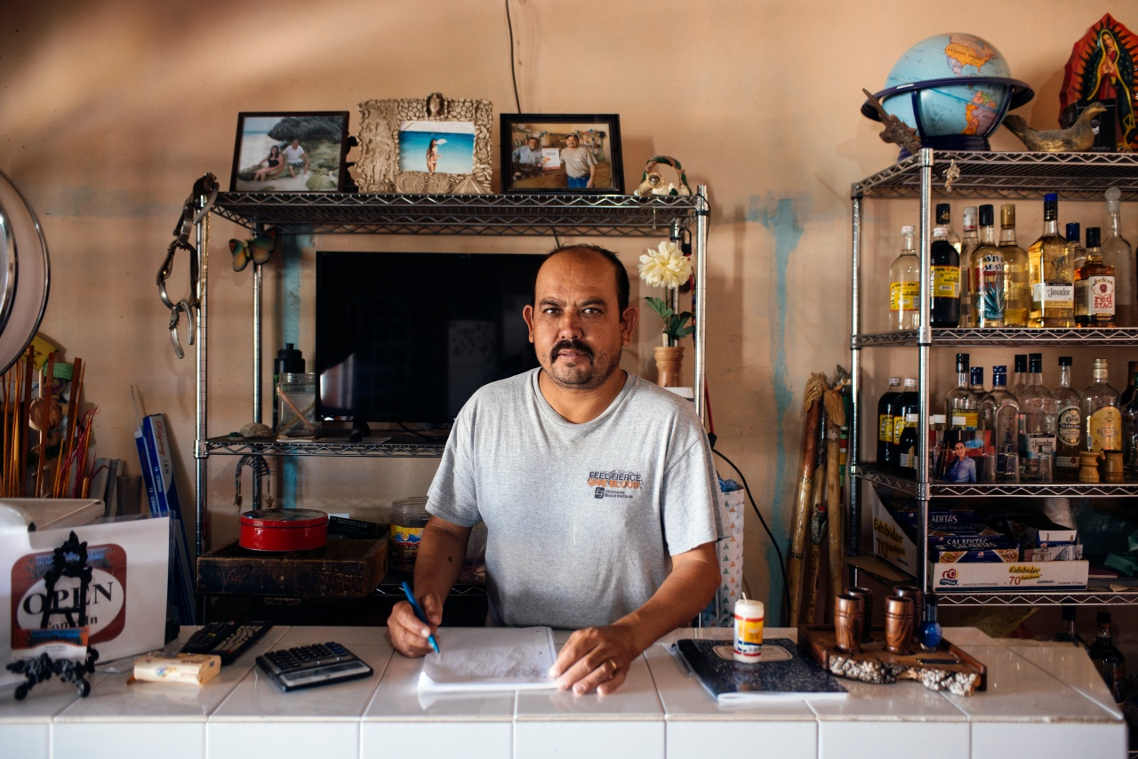 Ventura Falcon runs Boquillas Restaurant, one of only two diners in town.