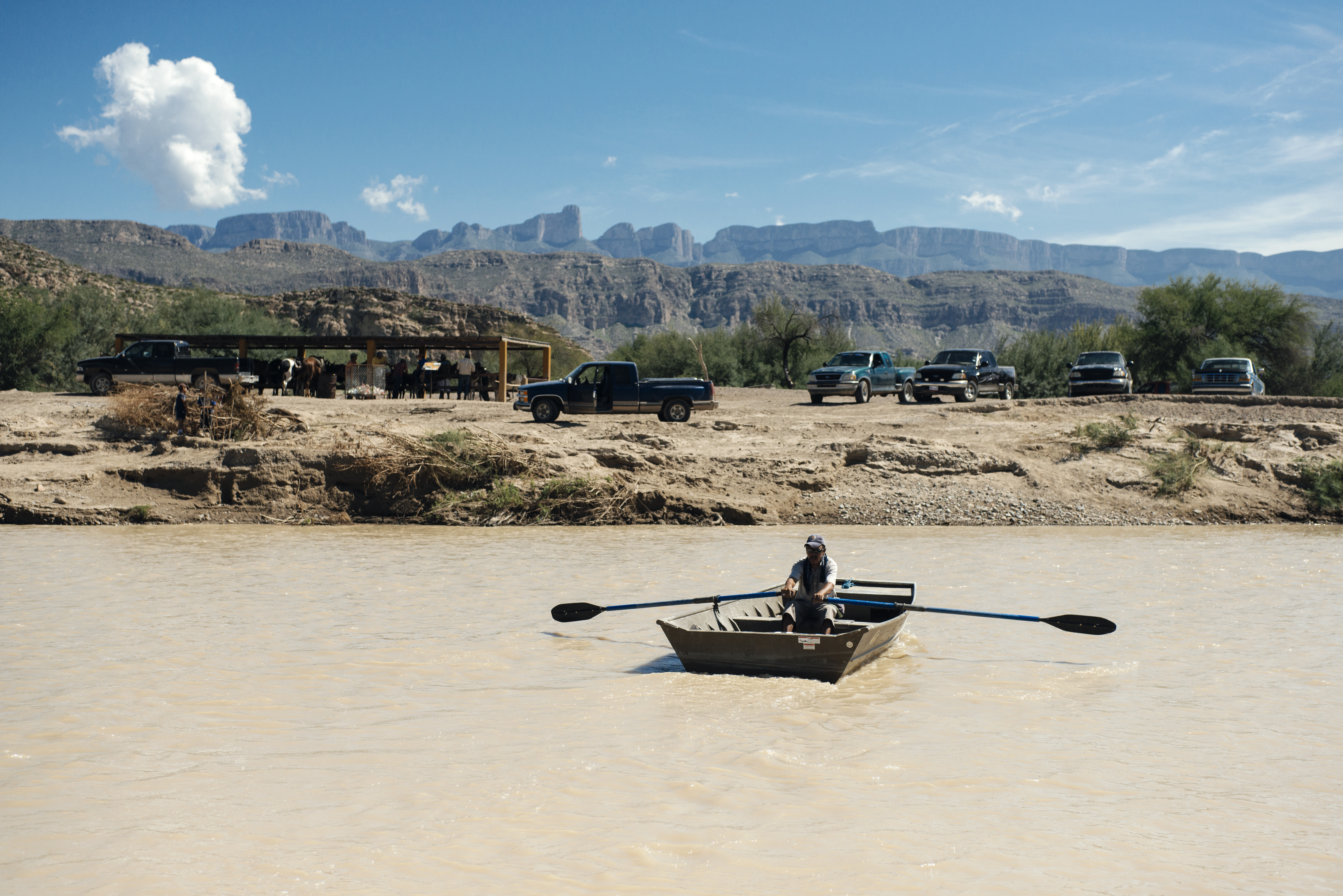 The Boquillas International Ferry takes visitors across the Rio Grande.