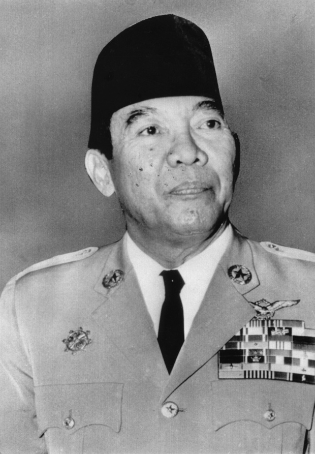 Sukarno, the first President of Indonesia. Photo by Universal History Archive/UIG via Getty Images.