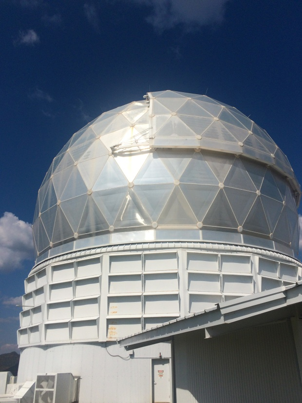 The observatory that contains the Hobby Elberly underneath the dome. Photo by Jasmina Kelemen.