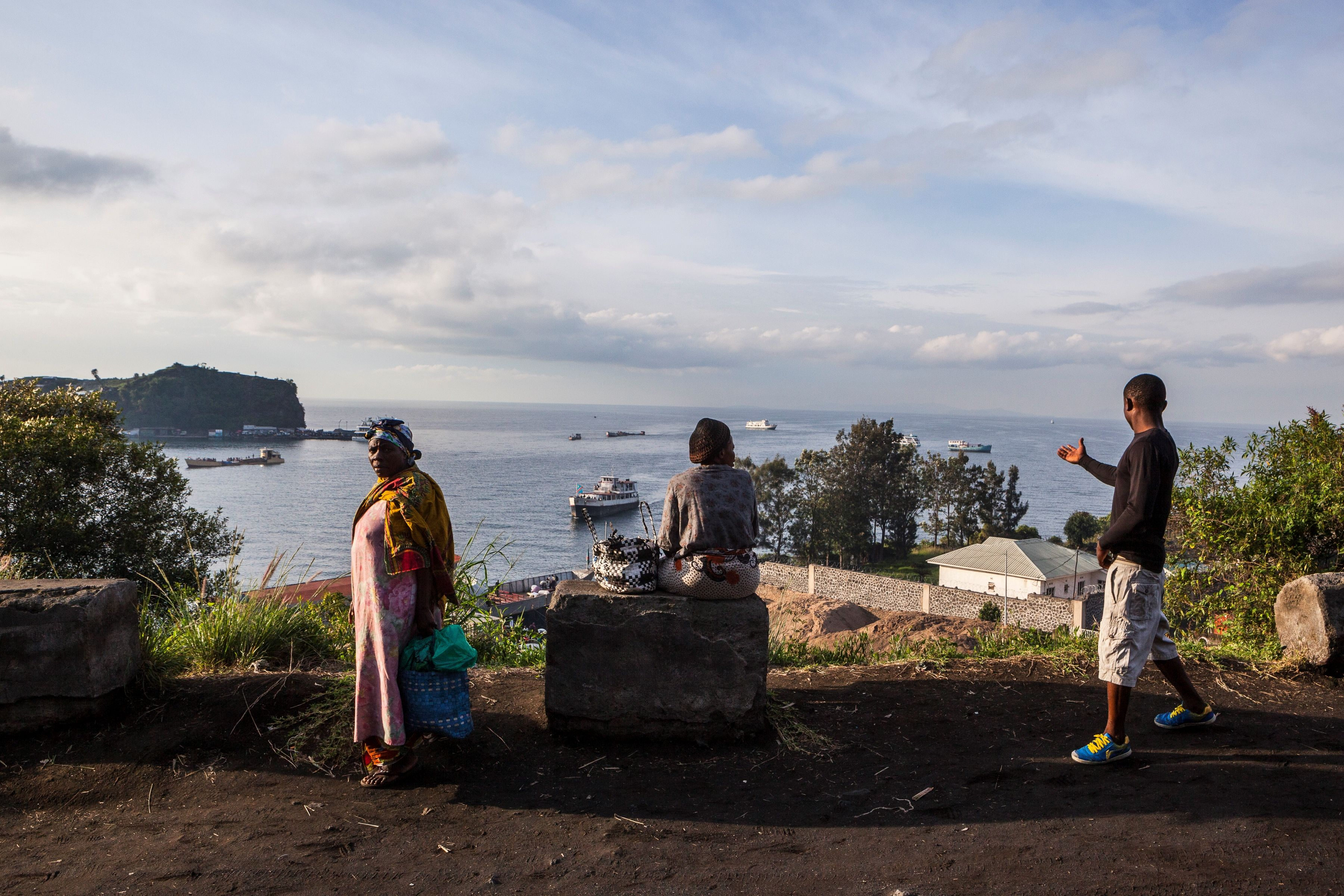 Lake Kivu in Goma. Photo by Eduardo Soteras/AFP/Getty Images.