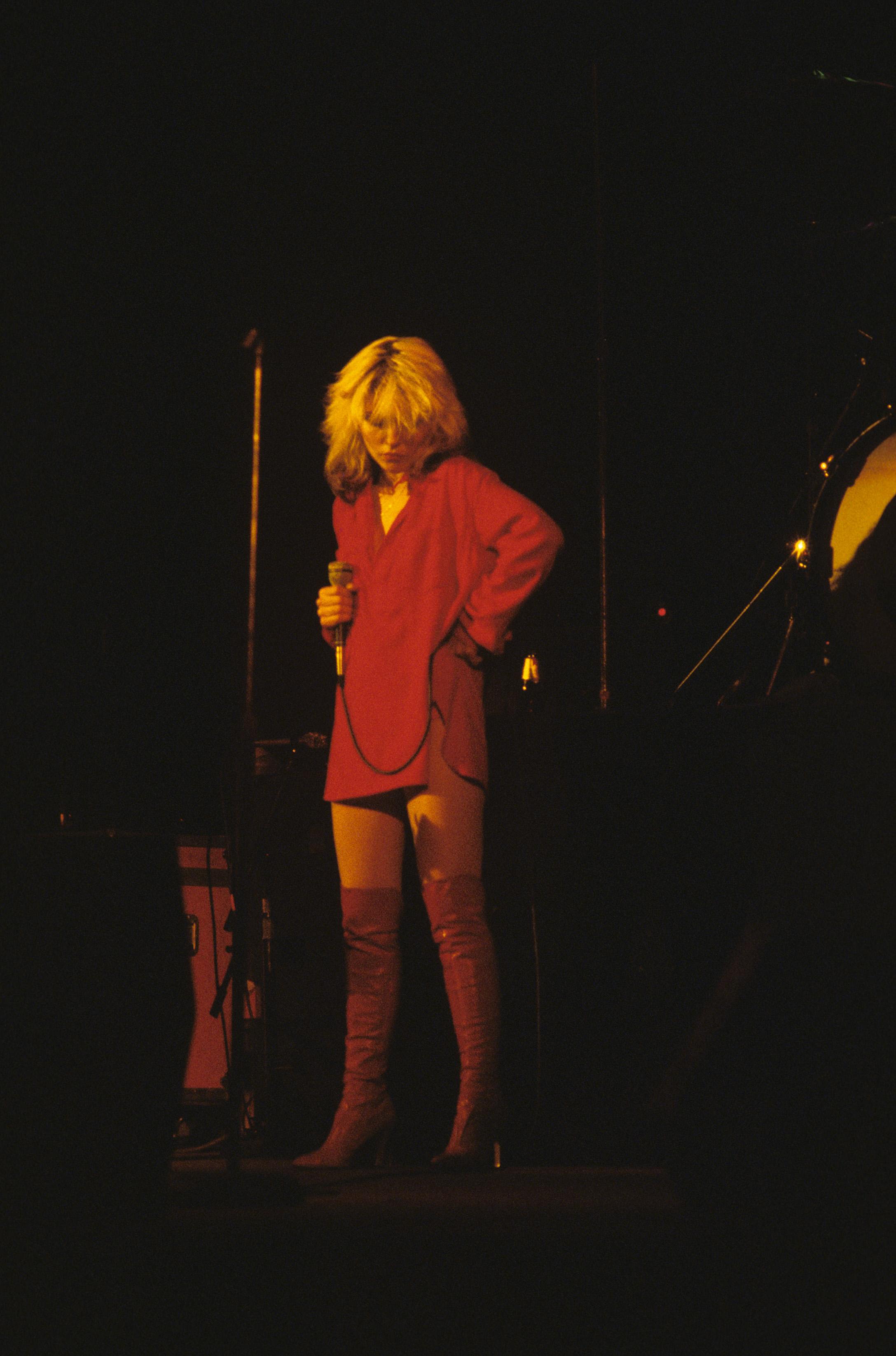 Blondie's Debbie Harry at the Palladium. Photo: Waring Abbott/Getty Images