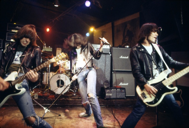 The Ramones at CBGB. (Photo by Roberta Bayley/Redferns via Getty Images)