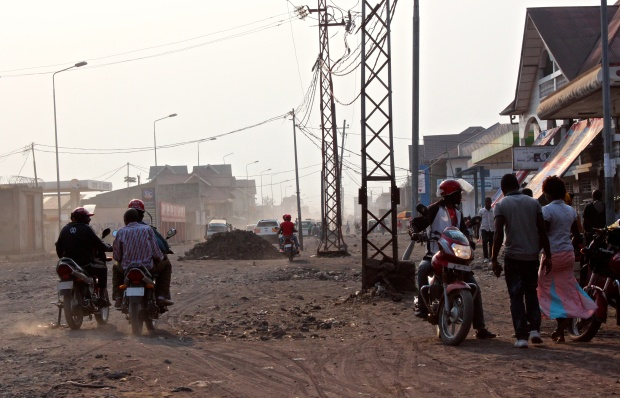 A major road in Goma—and one that's an improvement compared to years past.