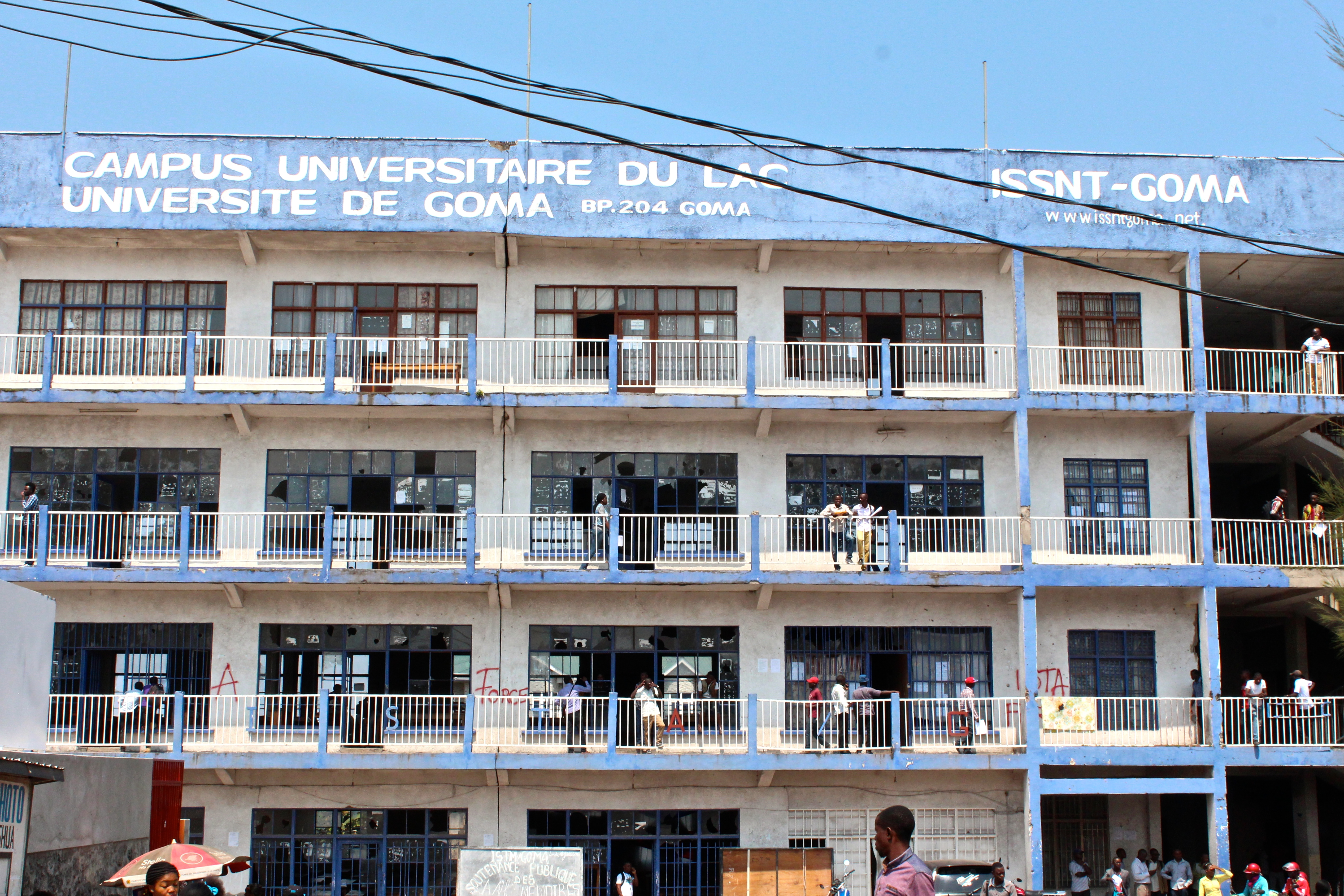 University of Goma, one of the country's top universities. Police smashed windows in response to anti-government protests.