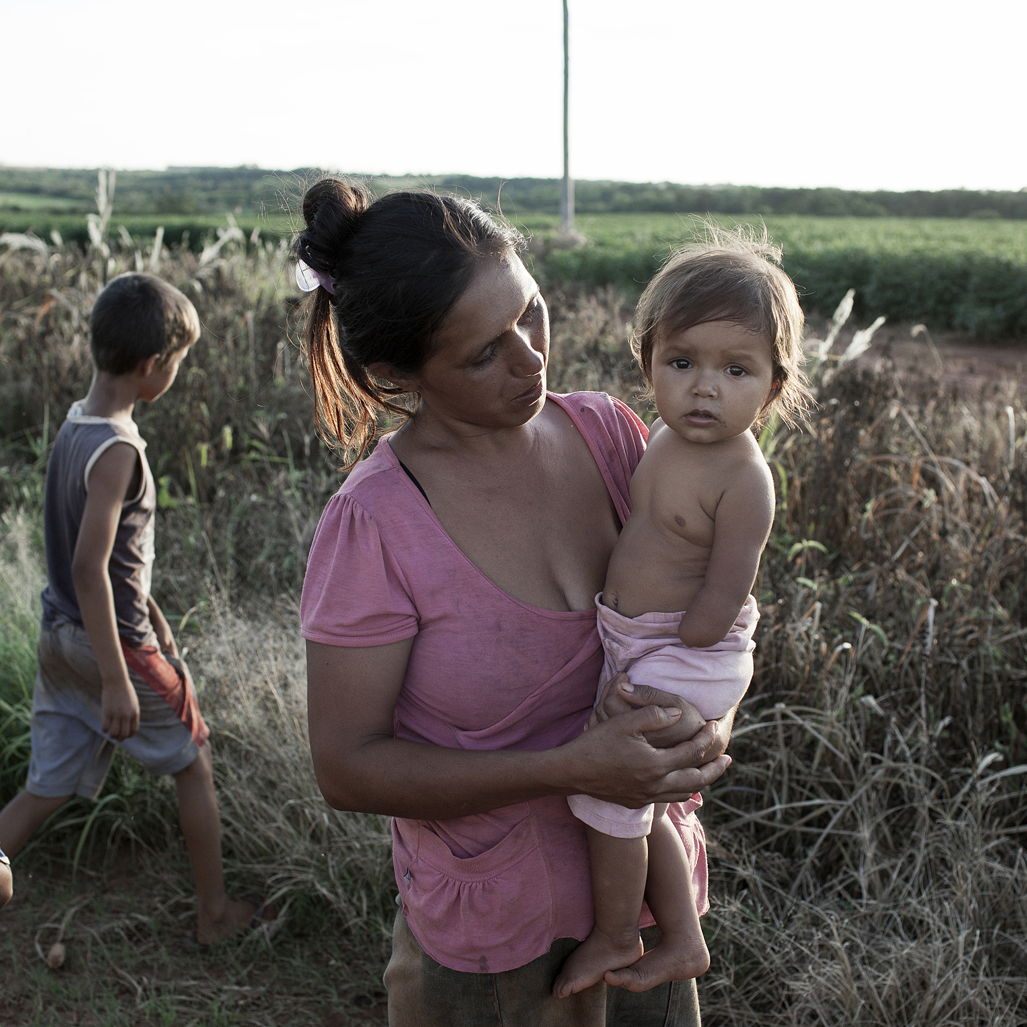 Magdalena Prete, 30, with her daughter Andrea Natali. Prete believes her daughter was born without a hand due to exposure to pesticides during her pregnancy.