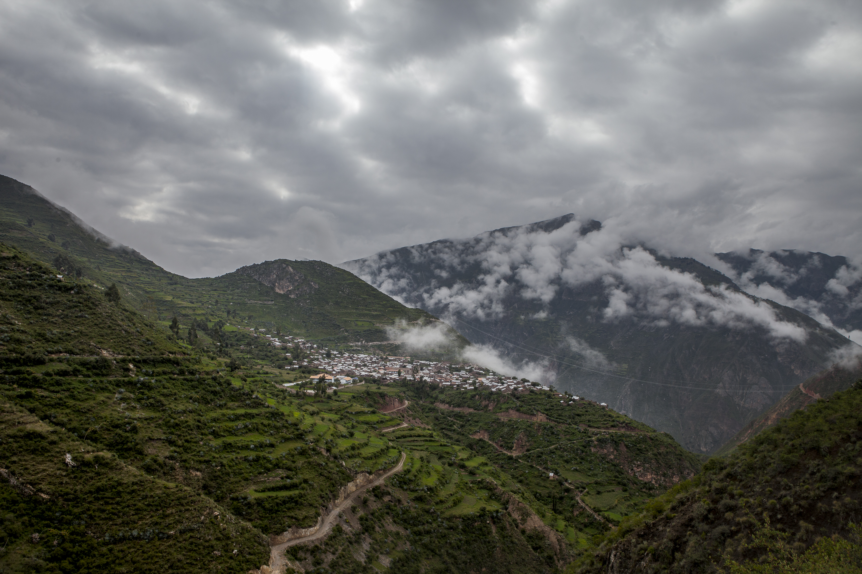 The clouds drift through Sarhua.