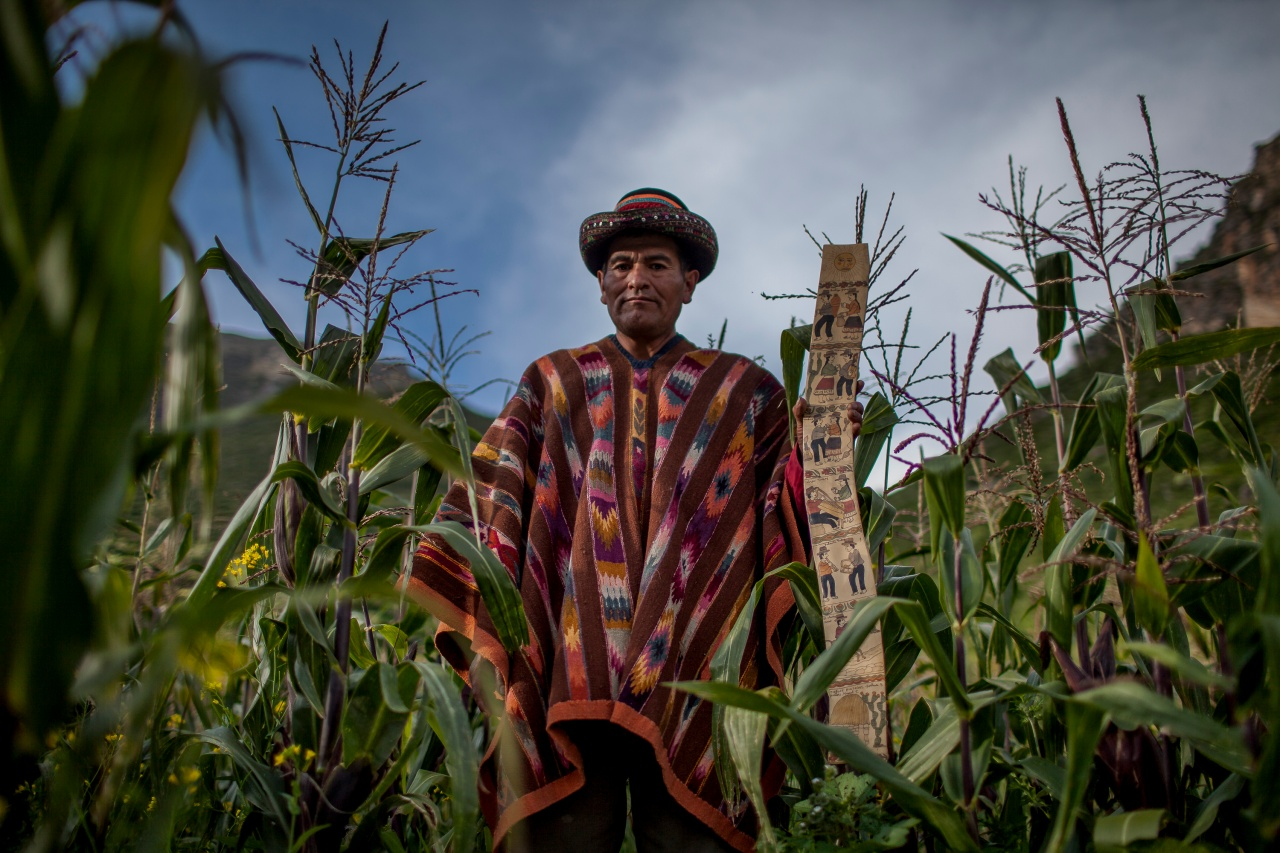 Misael Contreras, a Saruha-based artisan, poses in a field.